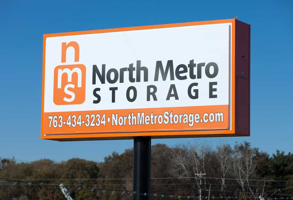 North Metro Storage center sign